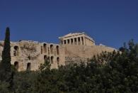 Die Akropolis - allerdings sind wir da noch nicht rein gegangen