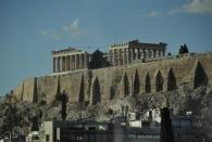 Blick auf's Parthenon aus dem Bus