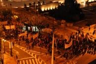 Ein weiterer Blick aus dem Hotelzimmer - jeden Abend waren Demonstrationen vor dem Parlament