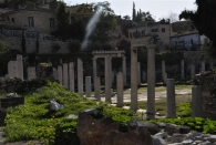 Auf dem Fussmarsch zur Akropolis