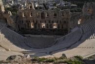 Das Odeon des Herodes von oben