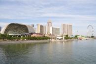 Das Riesenrad (Singapore Flyer) ist auch neu