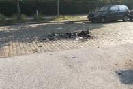 Fr 7.7. - Morgen am Ende meiner Straße: die Reste der Barrikade