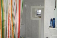 Badezimmer mit dem 360° Duschvorhang