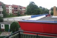 Sicht in den Hof von der Terrasse aus