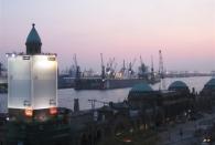 Erste Eindrücke von Hamburg. Hier die Aussicht bei den Landungsbrücken