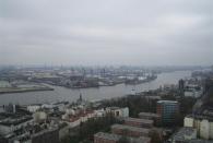 Aussicht vom Michel auf den Hafen