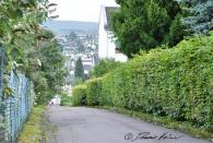 Auflösung ohne Bild: die Fassade des Pavillons. Hier der schöne Blick auf Höhr beim alten Weg von der Schule nach Hause.