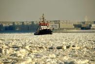 Eisige Elbe