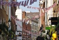 Patriotismus in Soho bei Carnaby Street
