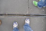 Please mind the Gap :D Die Spalte zwischen den beiden Teilen der Tower Bridge