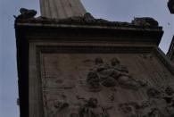 The Monument. Hier begann einst das große dreitägige Feuer von 1666