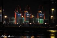 Hafen vom Elbstrand aus