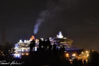 Auslaufen der Queen Mary II (leider wollte sie nicht für ein Foto noch mal anhalten)