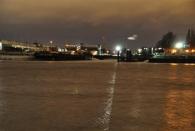 Die Elbe an den Landungsbrücken